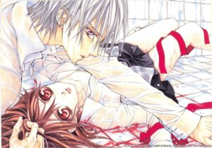 Rating: Questionable Score: 4 Tags: blood cross_yuuki hino_matsuri kiryuu_zero vampire_knight wet User: Radioactive