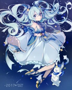 Rating: Safe Score: 46 Tags: cleavage dress hatsune_miku heels mato vocaloid yuki_miku User: Mr_GT
