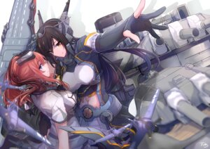 Rating: Safe Score: 36 Tags: kantai_collection nagato_(kancolle) pin.s saratoga_(kancolle) User: Nepcoheart