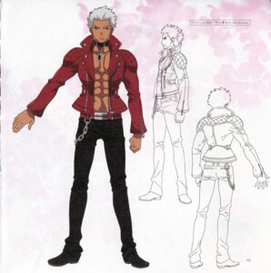 Rating: Safe Score: 10 Tags: archer bleed_through character_design fate/extra fate/extra_ccc fate/stay_night male paper_texture type-moon User: DDD