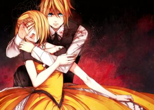 Rating: Safe Score: 20 Tags: aku_no_meshitsukai_(vocaloid) blood dress kagamine_len kagamine_rin sagula vocaloid User: charunetra