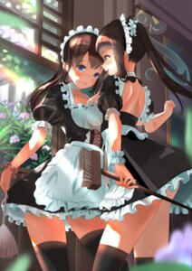 Rating: Safe Score: 35 Tags: maid skirt_lift symmetrical_docking thighhighs wander00317 yuri User: Mr_GT