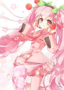Rating: Safe Score: 21 Tags: akara hatsune_miku sakura_miku thighhighs vocaloid User: KerrigN