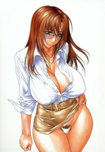Rating: Questionable Score: 31 Tags: cleavage erect_nipples inoue_takuya megane pantsu pubic_hair User: Mogunzo