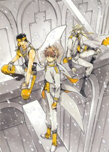 Rating: Safe Score: 4 Tags: clamp fai_d._flourite kurogane li_syaoran male tsubasa_reservoir_chronicle User: LulukoVladmont