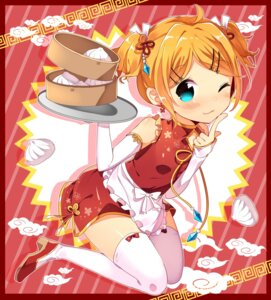 Rating: Safe Score: 30 Tags: chinadress heels ikari_(aor3507) kagamine_rin thighhighs vocaloid User: Mr_GT