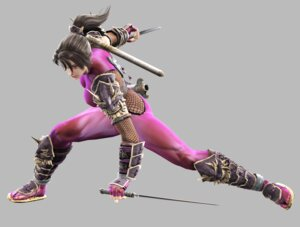 Rating: Questionable Score: 7 Tags: armor bodysuit fishnets namco ninja soul_calibur soul_calibur_iv taki weapon User: Yokaiou