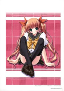Rating: Questionable Score: 19 Tags: amane_sou pantsu seifuku shimapan thighhighs User: Radioactive