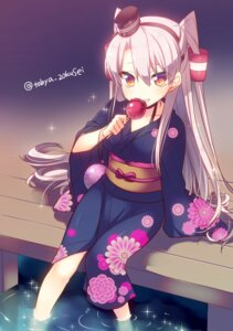 Rating: Safe Score: 67 Tags: amatsukaze_(kancolle) kantai_collection tahya wet yukata User: Mr_GT