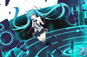 Rating: Safe Score: 27 Tags: hatsune_miku jyt thighhighs vocaloid User: charunetra
