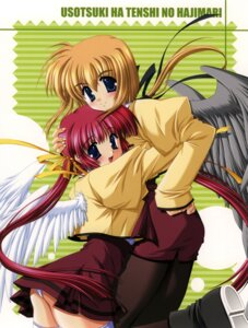 Rating: Questionable Score: 6 Tags: arisue_tsukasa pantsu usotsuki_wa_tenshi_no_hajimari wings User: fireattack
