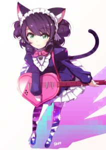 Rating: Safe Score: 35 Tags: animal_ears cyan_(show_by_rock!!) guitar nekomimi pomon_illust show_by_rock!! tail thighhighs User: nphuongsun93