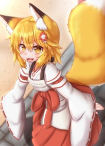 Rating: Safe Score: 11 Tags: animal_ears horokusa kitsune miko senko-san sewayaki_kitsune_no_senko-san tail User: dick_dickinson