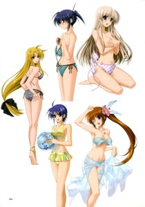 Rating: Questionable Score: 34 Tags: bikini breast_hold cleavage fate_testarossa higa_yukari isis_eaglet jpeg_artifacts lily_strosek mahou_senki_lyrical_nanoha_force mahou_shoujo_lyrical_nanoha subaru_nakajima swimsuits takamachi_nanoha topless User: CryFleuret