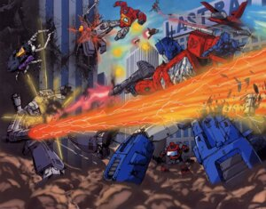 Rating: Safe Score: 10 Tags: blast_off bombshell broadcast convoy gun ironhide mecha megatron optimus_prime powerglide shrapnel starscream transformers User: Radioactive