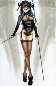 Rating: Questionable Score: 38 Tags: bodysuit hakua_ugetsu nipples see_through stockings thighhighs User: Eruru