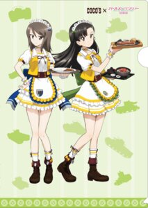 Rating: Safe Score: 10 Tags: girls_und_panzer heels maid mika_(girls_und_panzer) nishi_kinuyo tagme waitress User: saemonnokami