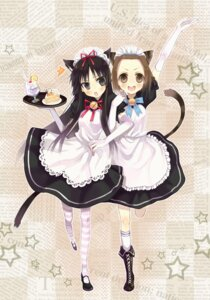 Rating: Safe Score: 13 Tags: akiyama_mio animal_ears k-on! maid nekomimi newrein tainaka_ritsu User: yumichi-sama