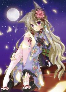 Rating: Safe Score: 39 Tags: animal_ears kimono kitsune matatabi_haru User: yumichi-sama