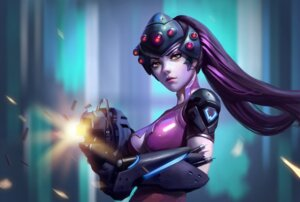 Rating: Safe Score: 49 Tags: bodysuit cleavage gun kutanyun no_bra overwatch widowmaker User: charunetra