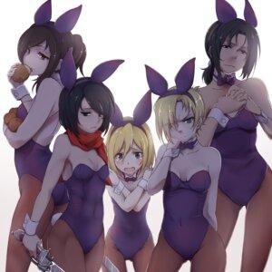 Rating: Safe Score: 45 Tags: animal_ears annie_leonhardt bunny_ears bunny_girl christa_lenz mikasa_ackerman pantyhose sasha_browse shingeki_no_kyojin touryou ymir_(shingeki_no_kyojin) User: Radioactive