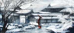 Rating: Safe Score: 45 Tags: kimono landscape swav umbrella User: Mr_GT