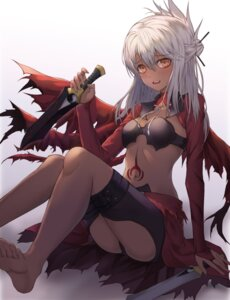Rating: Questionable Score: 32 Tags: bikini_armor cleavage fate/kaleid_liner_prisma_illya fate/stay_night kind1516 kuroe_von_einzbern tagme tattoo weapon User: Dreista