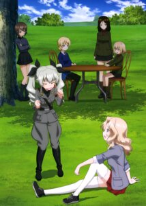 Rating: Safe Score: 19 Tags: anchovy darjeeling girls_und_panzer katyusha kay_(girls_und_panzer) nishizumi_maho nonna pantyhose thighhighs uniform User: drop