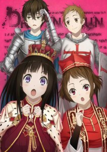 Rating: Safe Score: 23 Tags: armor chitanda_eru devilkero fukube_satoshi hyouka ibara_mayaka oreki_houtarou User: Radioactive