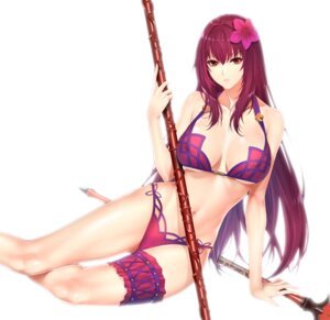 Rating: Safe Score: 21 Tags: bikini cleavage fate/grand_order garter scathach_(fate/grand_order) swimsuits underboob weapon zucchini User: mash