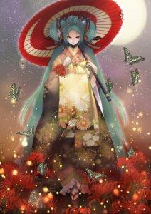 Rating: Safe Score: 17 Tags: hatsune_miku kimono vocaloid zerokichi User: Radioactive