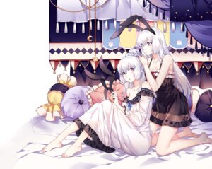 Rating: Questionable Score: 44 Tags: animal_ears bunny_ears cleavage feet lingerie see_through yujiu User: sym455