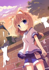 Rating: Safe Score: 30 Tags: animal_ears masaki_(machisora) neko nekomimi tail User: 椎名深夏
