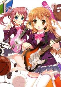 Rating: Safe Score: 35 Tags: fujima_takuya guitar seifuku thighhighs User: crim