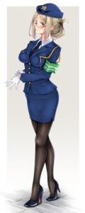Rating: Safe Score: 22 Tags: heels kantai_collection katori_(kancolle) megane pantyhose police_uniform siki2046 User: mash