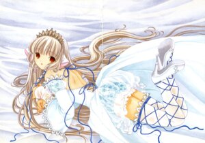 Rating: Safe Score: 11 Tags: chii chobits clamp gap thighhighs User: Share