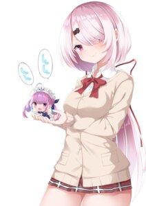 Rating: Safe Score: 24 Tags: chibi crossover hololive maid minato_aqua nijisanji nijisanji_gamers seifuku shiina_yuika shikapiro sweater User: BattlequeenYume
