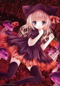 Rating: Safe Score: 42 Tags: animal_ears dress halloween mubi_alice nekomimi see_through thighhighs User: RICO740