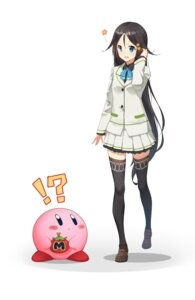 Rating: Safe Score: 47 Tags: crossover izumi_reina kirby kirby_(character) musaigen_no_phantom_world seifuku thighhighs User: gnarf1975