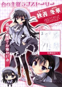 Rating: Questionable Score: 42 Tags: akiyoshi_fuyuka chibi feng heels kanojo_no_seiiki pantyhose ryohka seifuku sketch User: Twinsenzw