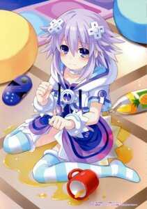 Rating: Safe Score: 35 Tags: choujigen_game_neptune neptune skirt_lift thighhighs tsunako wet User: Radioactive