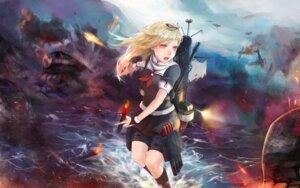 Rating: Safe Score: 21 Tags: kantai_collection seifuku weapon yomena yuudachi_(kancolle) User: Noodoll