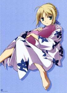 Rating: Safe Score: 23 Tags: fate/stay_night saber yukata User: YamatoBomber
