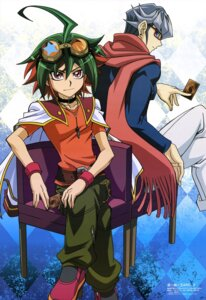 Rating: Safe Score: 11 Tags: akaba_reiji male megane noh_gil_bo sakaki_yuuya yugioh_arc-v User: drop