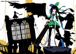 Rating: Safe Score: 28 Tags: ideolo kaenbyou_rin reiuji_utsuho thighhighs touhou wings User: WtfCakes