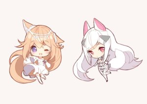 Rating: Safe Score: 27 Tags: animal_ears bodysuit chibi dress kitsune p19 skirt_lift tagme tail thighhighs User: zyll