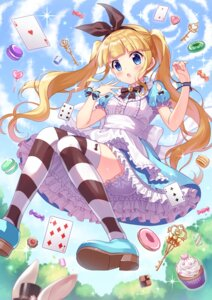Rating: Safe Score: 13 Tags: alice alice_in_wonderland bloomers heels shiono skirt_lift tagme thighhighs User: Mr_GT