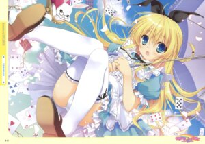 Rating: Questionable Score: 89 Tags: alice alice_in_wonderland cameltoe chikotam pantsu thighhighs User: fireattack