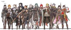 Rating: Safe Score: 20 Tags: armor heels jun_(seojh1029) pantyhose sword thighhighs weapon User: Radioactive