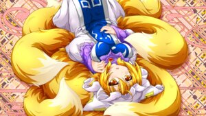 Rating: Safe Score: 24 Tags: jpeg_artifacts kazami_karasu kitsune tail touhou wallpaper yakumo_ran User: RyuZU